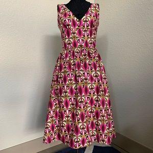 Laundry by Shelli Segal V-neck Bold Print Dress